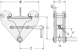 Nova beam clamp dimensions