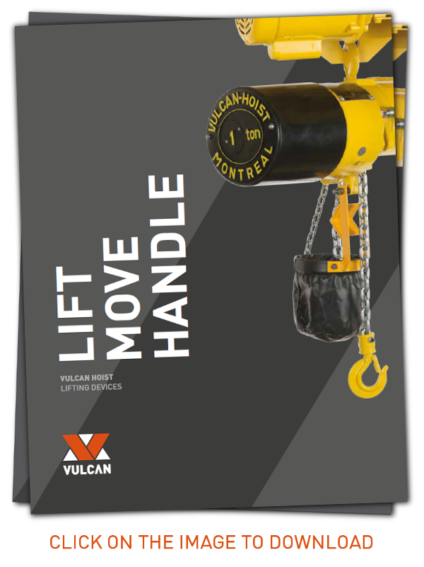 Vulcan Hoist products flyers. Click on the image to download!